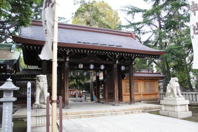 川口神社山門